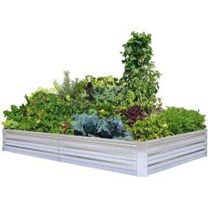 FOYUEE 热镀锌钢板大尺寸种植花床 8x4x1ft