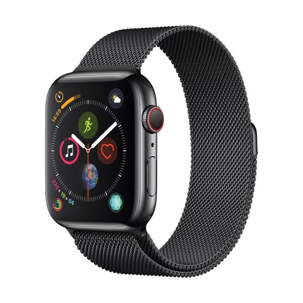 Apple Watch 4 44mm 不锈钢蜂窝版 + 米兰尼斯表带