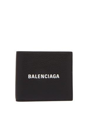Balenciaga Logo-print bi-fold leather wallet