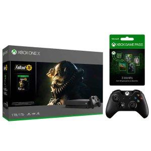 $349.99Xbox One X《辐射76》套装 + 额外手柄 + 3个月游戏通行证