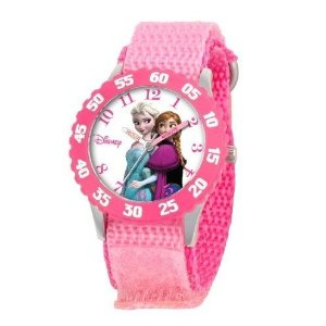 $18.08Disney Kids' W000969 Frozen Anna and Elsa Time Teacher Watch with Pink Nylon Band