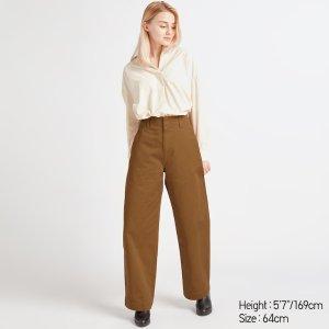 U系列 棕色宽腿休闲裤
