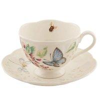Lenox 蝶舞花香茶杯
