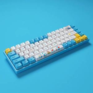 做工优秀 轻巧便携AKKO 3068V2 哆啦A梦联名款 蓝牙机械键盘 开箱体验