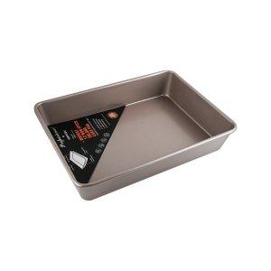 学厨CHEFMADE 手工吐司面包 不粘烘焙模具 香槟金深款长方形烤盘, 13寸, WK9041, 34.6x24.7x 6cm - 亚米网