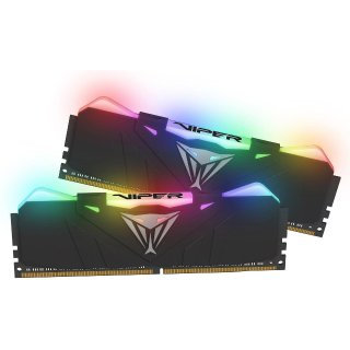 $134.99 高频b-die RGB灯条Patriot Viper RGB 16GB (2 x 8GB) DDR4 4133 C19 内存套装