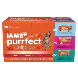 $7.42 Free shippingIams Purrfect Delights Flaked Adult Wet Cat Food