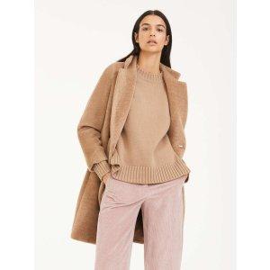 Max MaraCashmere and wool yarn jumper, camel -