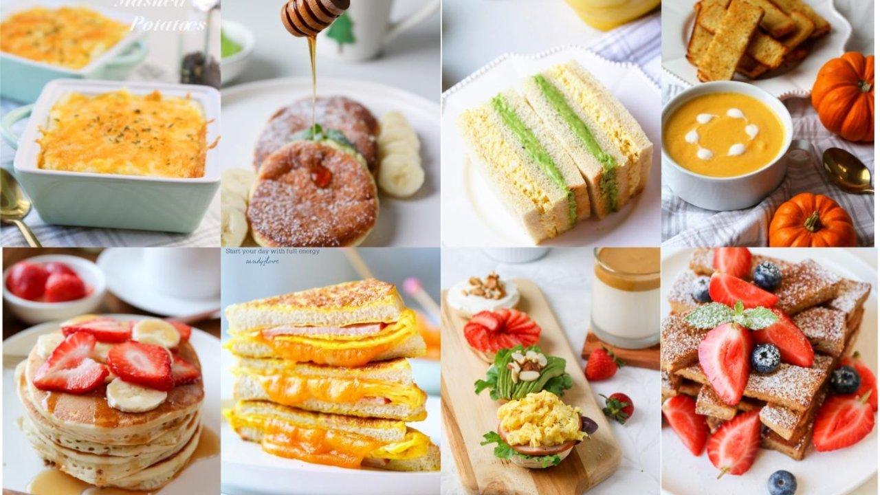简单快手老少咸宜的美味早餐丨花样早餐任你选
