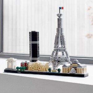 $55.89 (原价$69.86) 乐高迷别错过LEGO Architecture 2019新款巴黎天际线特卖