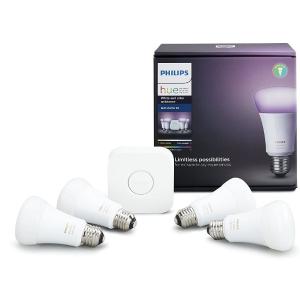 $179.96(原价$249.99)Philips Hue 可调色 A19 LED 智能灯泡套装 (4只)