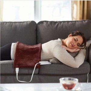 $28.99(原价$39.97)Sunbeam 6档调温热敷电热毯 理疗垫 棕色  销量冠军