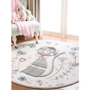Safavieh满$100享额外8折猫咪童趣地毯
