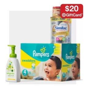 Spend $100+ Get Free $20 Gift Cardon Select Baby Care Items @ Target
