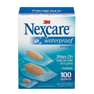 Nexcare Waterproof Clear Bandages Assorted Sizes, 20 Count (Pack of 4)