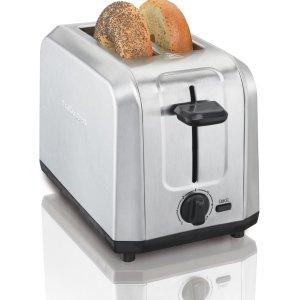 $19.99 (原价$29.99)Hamilton Beach 22910 经典款不锈钢烤面包机