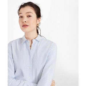 Brooks BrothersClassic-Fit Supima® Cotton Oxford Stripe Forward-Point Shirt - Brooks Brothers