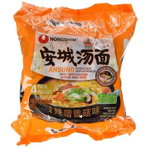 $3.97(原价$6.39)Nongshim NS02321S 农心安城汤面味增香菇味 4包