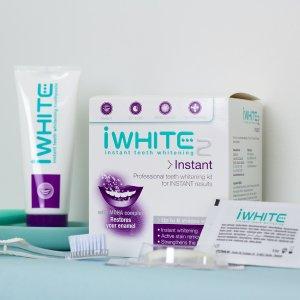 无门槛7.5折+好礼iWhite 可以刷掉牙垢的比利时专业美白牙膏 牙贴仅€2.5/副