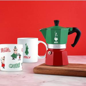 含税直邮中国¥158Bialetti 意式摩卡咖啡壶3杯容量 三色纪念款