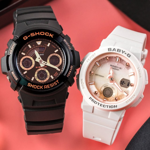 低至3折 坚固耐用Casio卡西欧 G-Shock、Baby-G 男女款运动手表