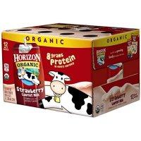 Horizon Organic 草莓味低脂有机奶 8oz 12盒