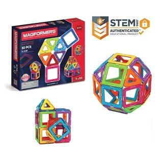 $24.99(原价$49.99)史低价:Magformers 儿童益智STEM磁力片玩具,30片
