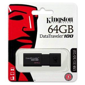 $13.99 拿个小u盘 到哪都不难Kingston 64GB USB3.0 U盘 和文件一起走南闯北
