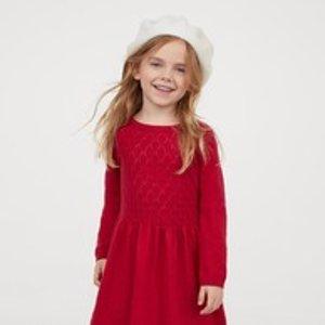 低至5折+额外7折H&M 儿童服饰鞋履等黑五大促 连衣裙、短袖T恤$2.09起