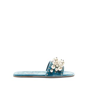 Miu MiuFaux-pearl embellished velvet slides | Miu Miu | MATCHESFASHION US