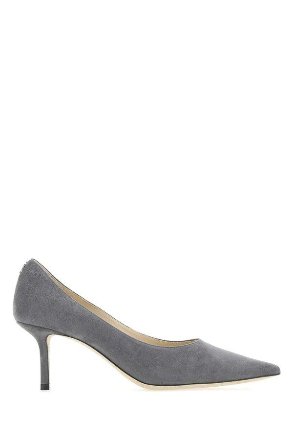 Love 65 灰色麂皮鞋