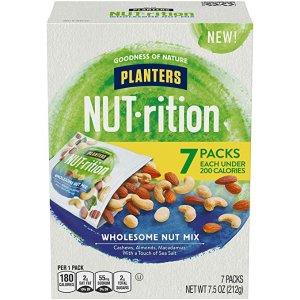 $4.98 包邮Planters 抗氧化混合果仁 1.25oz 共7包