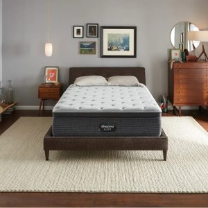 Simmons睡美人银标一级BRS900中等偏硬床垫带pillow top Queen