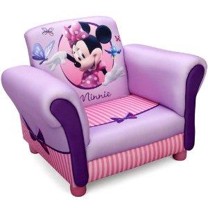$74.97(原价$160.99)+包邮Disney 超可爱 Minnie 紫色卡通沙发,3-6岁的宝妈们看过来