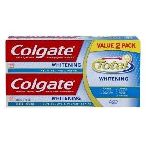 4支仅$9.98 再送$5礼卡Colgate 强效美白牙膏 6oz 170g