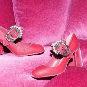 最高立减$500 可甜可酷11.11独家:Miu Miu专场,收美貌水钻MIU家鞋