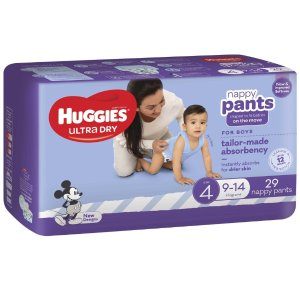 $8.5(原价$17)Huggies 好奇 Ultra Dry 男婴纸尿裤 29片装