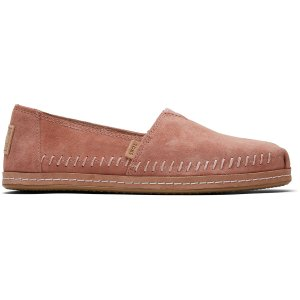 TomsSand Pink Suede Leather Wrap Women's Classics