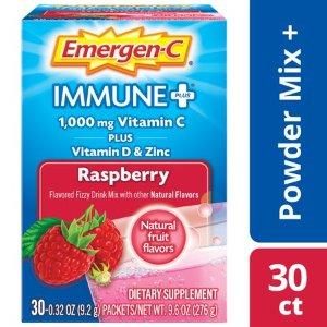 Emergen-C Immune+ (30 Ct, Raspberry) Immune Support Powder Packets - Walmart.com