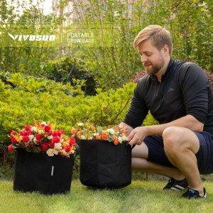 $30.99(原价$45.99) 5个装VIVOSUN 30加仑 带手柄加厚无纺布种植袋 在家随意种