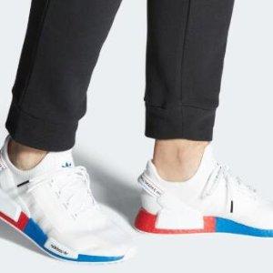$150起+包邮 米色热卖中上新:adidas 新款NMD舒适潮鞋  白蓝红热卖 彩虹色发售