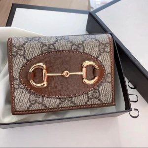 好看还不贵 收封面同款Gucci 钱包卡包专场 款式超全 夏日配色也在线 €150收老花卡包