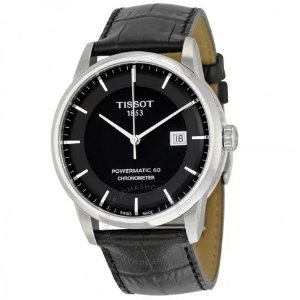 EXTRA $100 OFF Tissot Luxury Automatic Black Dial Mens Watch