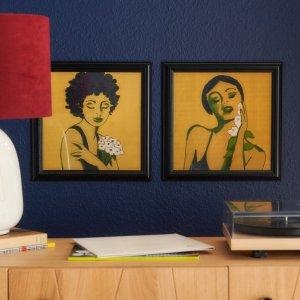 Drew Barrymore Flower HomeFlower Women Framed Wall Art by Drew Barrymore Flower Home - Set of 2