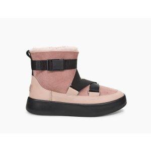 UGG Australia粉黑Z字带松糕靴