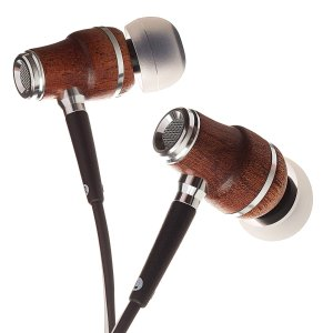 Symphonized NRG X Sapele Wood Earbuds