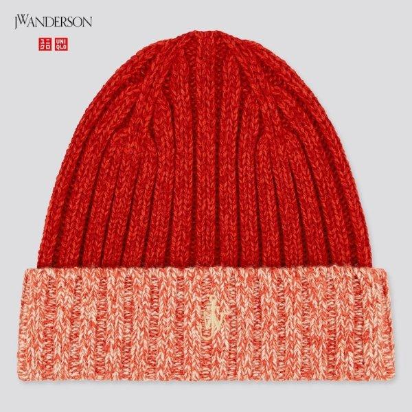 X JW ANDERSON 红色保暖毛线帽