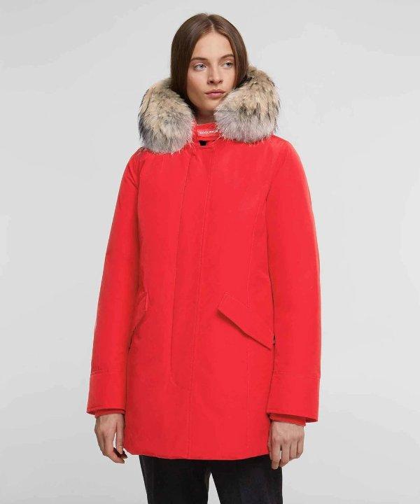 毛领保暖大衣