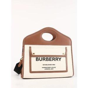 BurberrySmall Pocket托特包