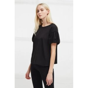 French ConnectionCrepe Light Puff Sleeve Top